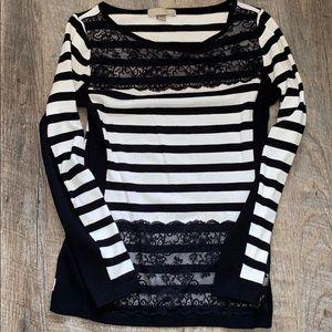Striped Lace Sweater
